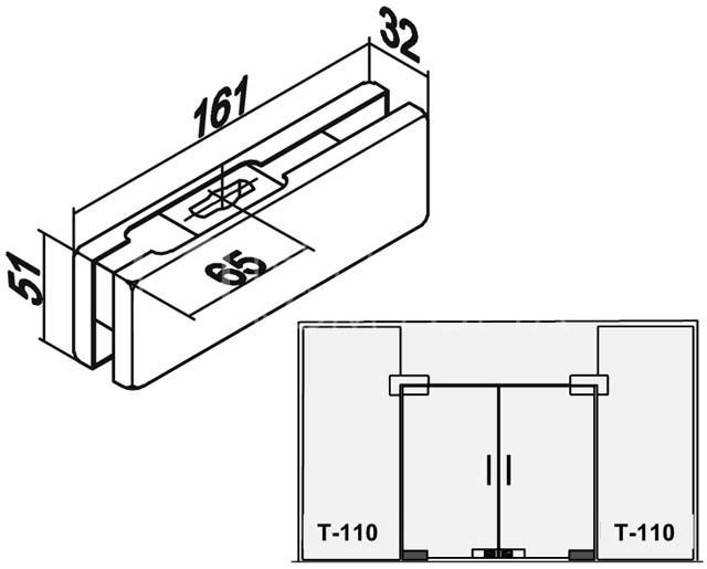Фитинг нижний T-110
